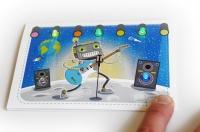"""РобоОткрытка """"Космический гитарист"""" Новый год Подарок"""