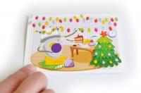"""РобоОткрытка """"Робот-сладкоежка"""" Новый год Подарок"""