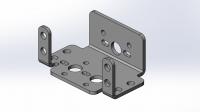 Алюминиевый кронштейн для стандартного сервопривода