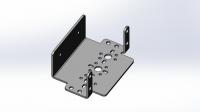 Алюминиевый кронштейн для большого сервопривода (тип Hitec HS805BB+)
