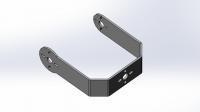 Алюминиевая П-скоба L для большого сервопривода (тип Hitec HS805BB)