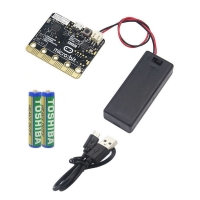 Комплект 4 в 1: Плата micro:bit, кабель, батарейный отсек, батарейки